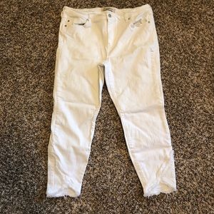 Liverpool white denim